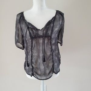 Mudd women's sheer top. Size M